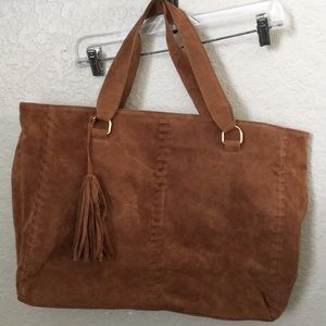 JustFab Faux suede tote